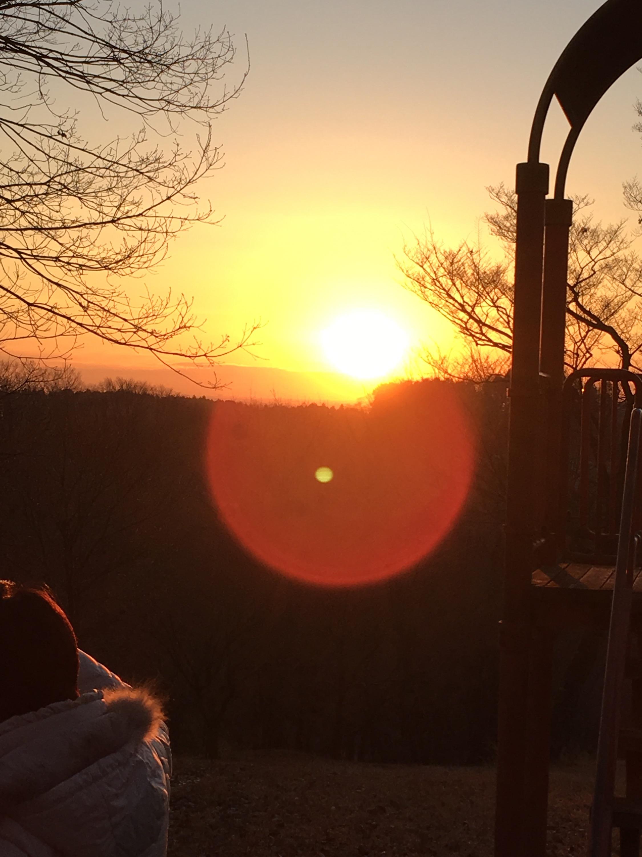 画像:北山公園からの初日の出