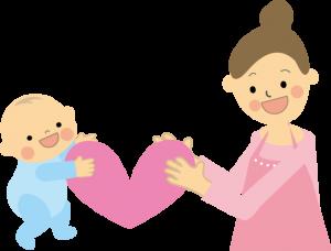 『お母さんと赤ちゃん』の画像