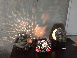 『笠間焼のランタン』の画像