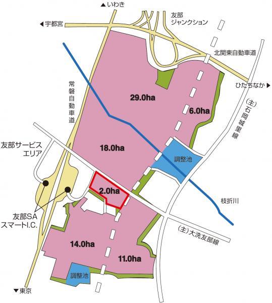 茨城中央工業団地(笠間地区)(図)