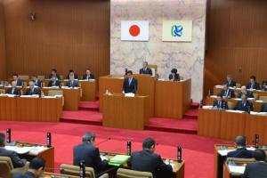 『平成27年第1回笠間市議会定例会(議場)』の画像