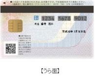 『個人番号カード(うら面)』の画像