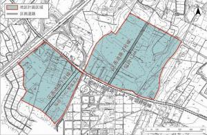 『地区計画区域図(安居・押辺)』の画像