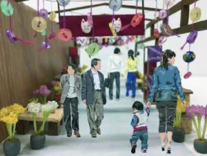 『菊装飾(回廊)』の画像