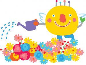 『いばラッキー 花』の画像