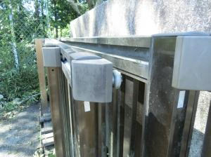 『稲田小門扉脱落』の画像