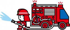 『消防車イラスト』の画像