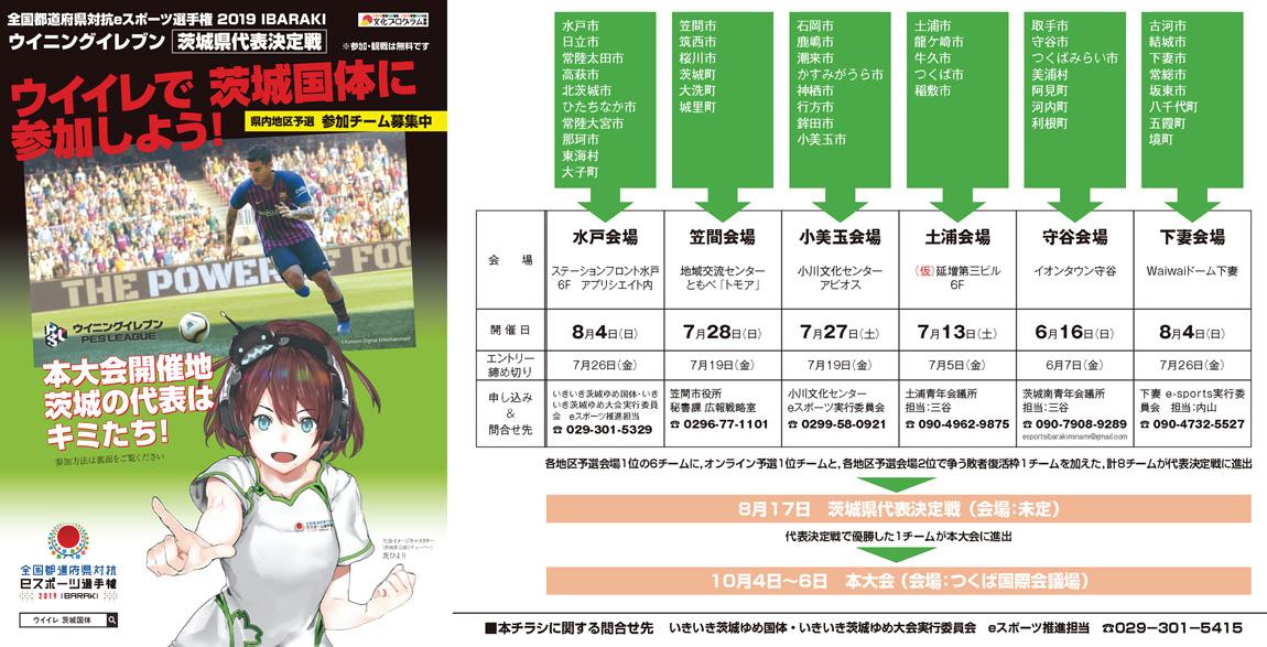 『全国都道府県対抗eスポーツ選手権 2019 IBARAKI』の画像