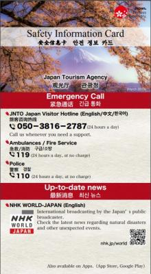 『Safety Informetion Card 1』の画像