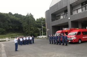 笠間市消防本部緊急消防援助隊出発式