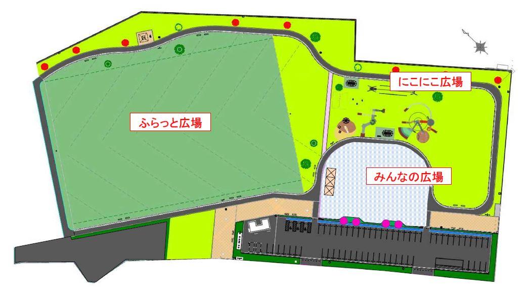 笠間中央公園平面図