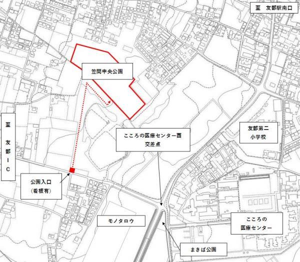 笠間中央公園案内図