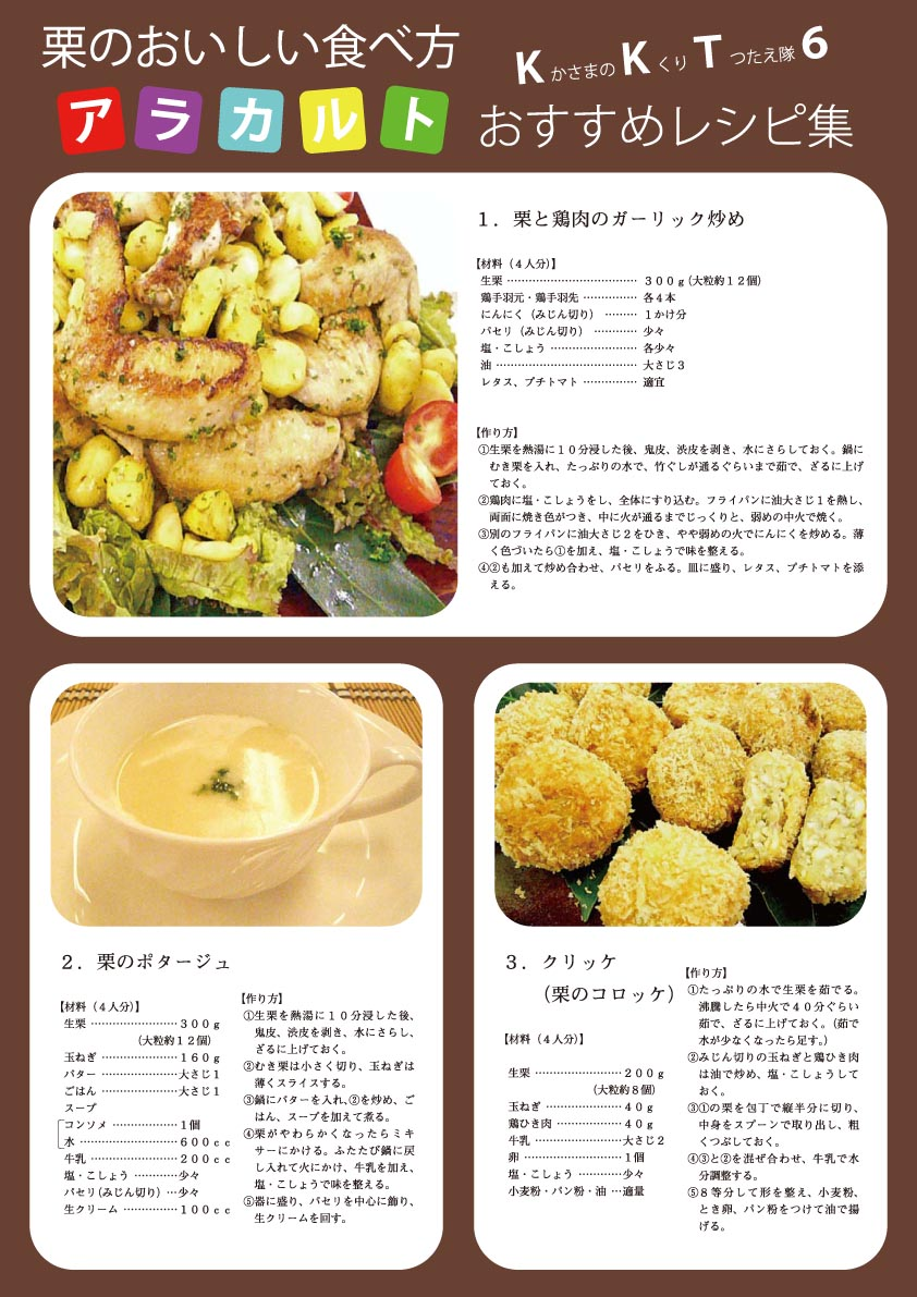 KKT6おすすめレシピ集(表)