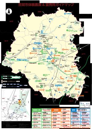 体験農業&直売所ガイドマップ 裏面