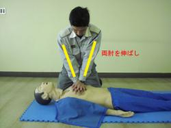 胸骨圧迫の要領